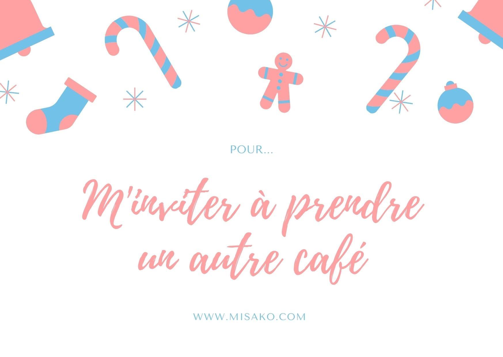 Carte imprimable 2: Pour m'inviter à prendre un autre café