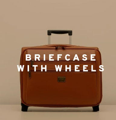 Briefcase with wheels by Misako