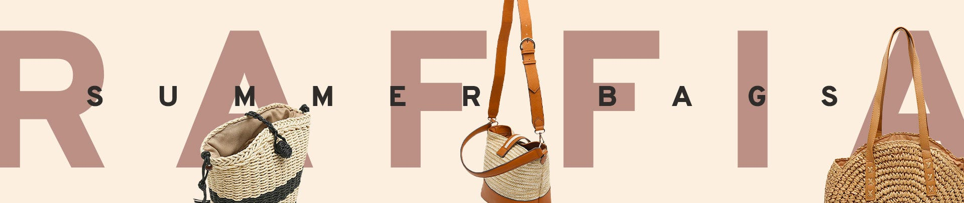 Summer bags and raffia by Misako