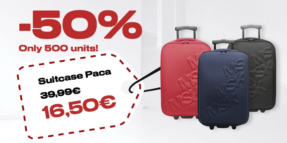small suitcase offer by Misako